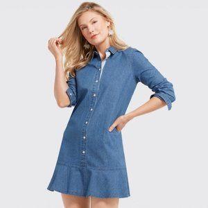 NWT Draper James Chambray Shirt Dress